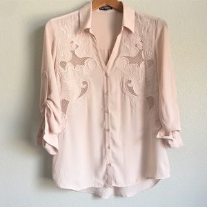 Express Button Down Blouse / Sz M
